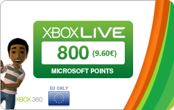 code 800 Microsoft Points (Europe)